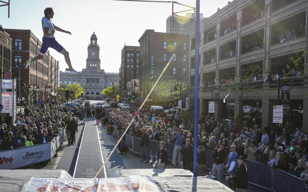 Drake Relays takes the Mall Vault to the Street